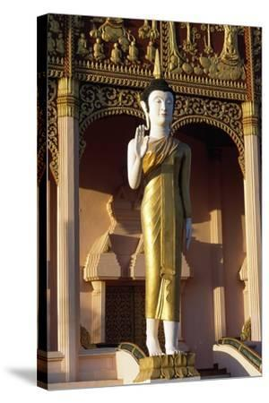 Statue of Buddha, Wat That Luang Neua Pagoda, Vientiane (Viangchan), Laos, 20th Century--Stretched Canvas Print