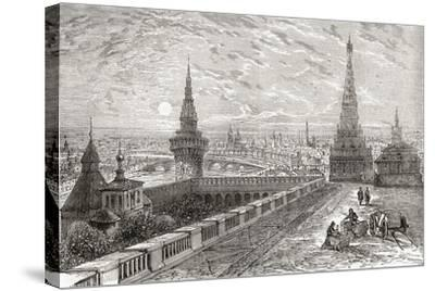 Moscow, Russia in the 19th Century. from the National Encyclopaedia, Published C.1890--Stretched Canvas Print