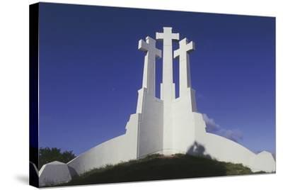 Low Angle View of a Monument, Three Crosses Monument, Vilnius, Lithuania--Stretched Canvas Print