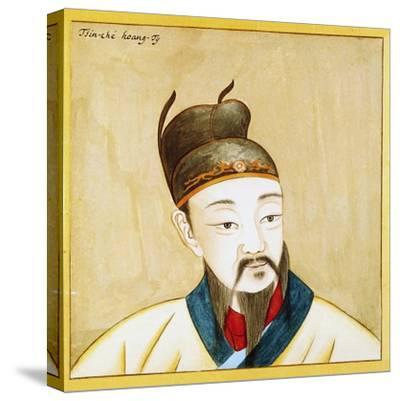 Portrait of Qin Shi Huang, Founder of the Empire of China, Chinese Civilization, 17th Century--Stretched Canvas Print