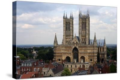 Lincoln Cathedral, Consecrated in 1092, English Gothic Style, Lincoln, Lincolnshire, United Kingdom--Stretched Canvas Print