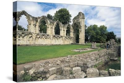 Ruins of Abbey of St Mary, Benedictine Abbey, 13th Century, York, England, United Kingdom--Stretched Canvas Print