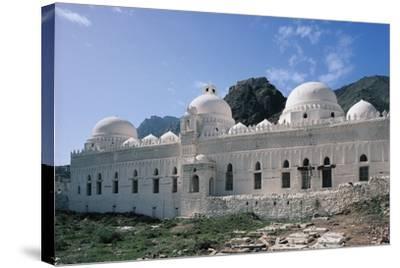 Al Ashrafiyya Mosque with Twin Minarets, 13th Century, Taiz, Taiz Governorate, Yemen--Stretched Canvas Print