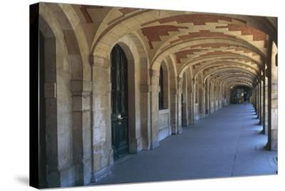 The Place Des Vosges Arcades, 1612, in the Marais District, Paris, Ile-De-France, France--Stretched Canvas Print