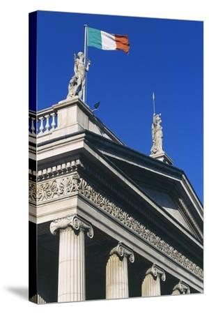 The General Post Office (Gpo) on O'Connell Street, Which Flies Irish Flag, Dublin, Ireland--Stretched Canvas Print