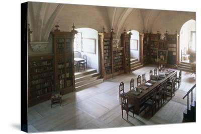 Renaissance Vaulted Library in Pernstejn Castle, 1450-1550, Moravia, Czech Republic--Stretched Canvas Print