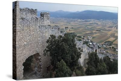 Ruins of San Pio Delle Camere Castle and Walled Village, 12th-16th Century, Abruzzo, Italy--Stretched Canvas Print