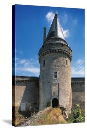 The Tower of the Drawbridge, Chateau of Blain or Groulais, 13th-16th Century, Brittany, France--Stretched Canvas Print