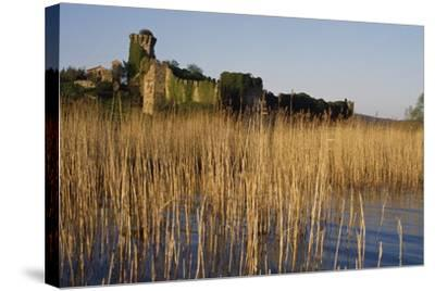 The Ruins of the Medieval Castle on Polvese Island, Lake Trasimeno, Umbria, Italy--Stretched Canvas Print