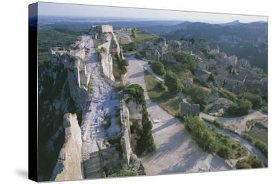 Ruins of Les Baux-De-Provence Castle, Provence-Alpes-Cote D'Azur, France--Stretched Canvas Print