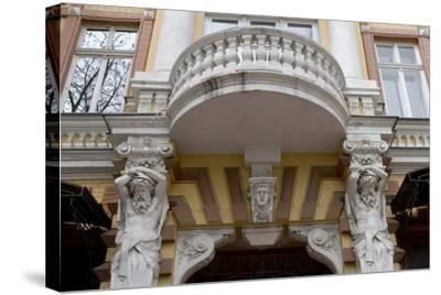 Detail of the Decoration on the Facade of Jugendstil Building, Odessa, Ukraine--Stretched Canvas Print