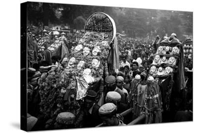 Procession of Gods on Kulu Dassera Festival, Himachal Pradesh India, 1982--Stretched Canvas Print