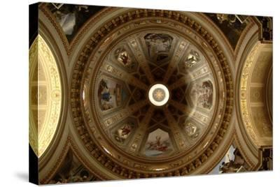 Ceiling of Cathedral of St Eusebius, Vercelli Cathedral, Piedmont, Italy--Stretched Canvas Print