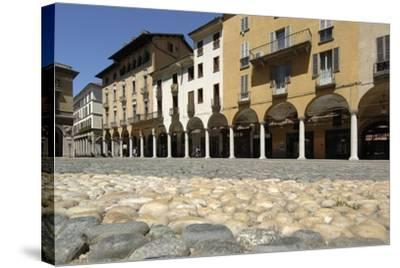 Paving in Piazza Della Repubblica and its Arcades, Novara, Piedmont, Italy--Stretched Canvas Print
