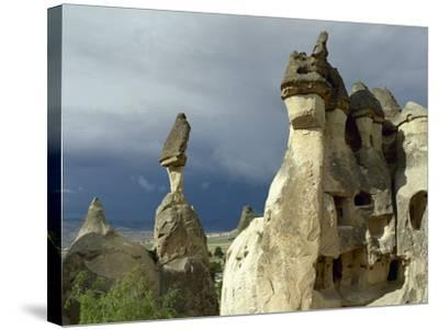 Turkey. Cappadocia. Pasabaglari. Monk's Valley. Fairy Chimney. Detail. Central Anatolia--Stretched Canvas Print