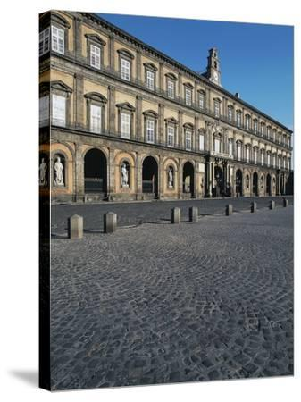 Facade of the Royal Palace, 17th Century, Square of the Plebiscite, Naples, Campania, Italy--Stretched Canvas Print