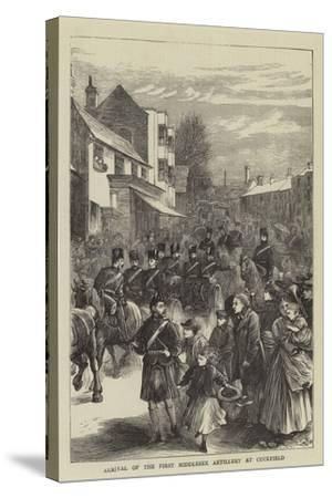 Arrival of the First Middlesex Artillery at Cuckfield--Stretched Canvas Print