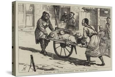 The Famine in China, Children for Sale at Shantung--Stretched Canvas Print