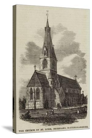 The Church of St Luke, Shireoaks, Nottinghamshire--Stretched Canvas Print