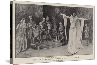 King John at Her Majesty'S, a Scene from Act III--Stretched Canvas Print