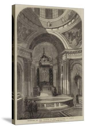 Interior of the Church of the Invalides, at Paris--Stretched Canvas Print