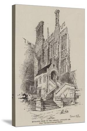 Entrance Porch to the Library, Lincoln's Inn--Stretched Canvas Print