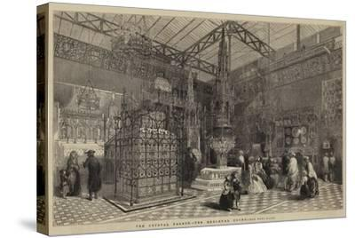 The Crystal Palace, the Mediaeval Court--Stretched Canvas Print