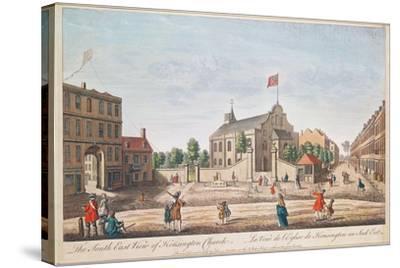 Kensington Church, London, S.E. View--Stretched Canvas Print