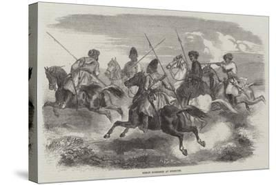 Herat Horsemen at Exercise--Stretched Canvas Print