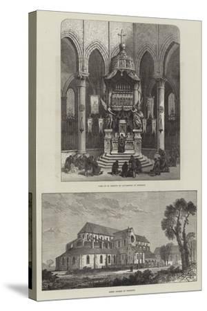 Pontigny Abbey--Stretched Canvas Print