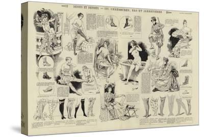 Dessus Et Dessous, Chaussures, Bas Et Jarretieres--Stretched Canvas Print