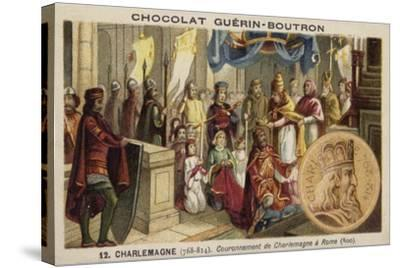 Coronation of Charlemagne as Emperor, Rome, 800--Stretched Canvas Print