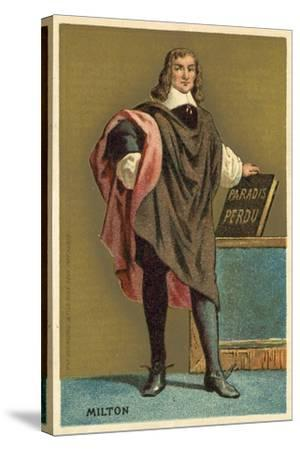John Milton, English Poet--Stretched Canvas Print