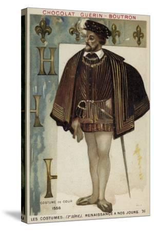 Court Dress, 1556--Stretched Canvas Print
