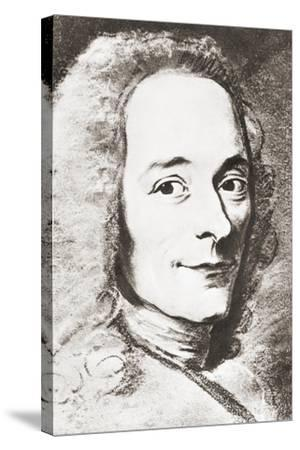 Voltaire--Stretched Canvas Print