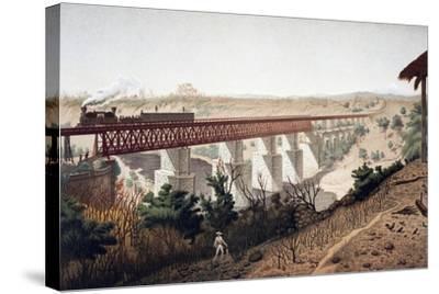 La Soledad Bridge (Veracruz), 1878, Mexico, 19th Century--Stretched Canvas Print