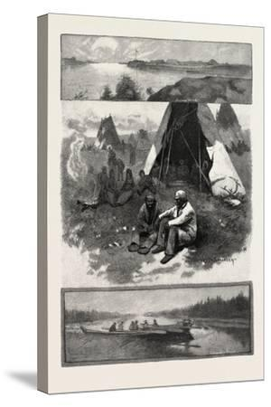 Scenes Along the Nelson River, Canada, Nineteenth Century--Stretched Canvas Print
