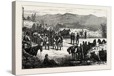 The Civil War in Spain: Serrano and His Staff at Montellano--Stretched Canvas Print