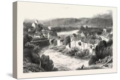 Lauffenberg, Laufenburg, Germany, Switzerland, 19th Century--Stretched Canvas Print