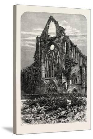 West Front of Tintern Abbey, UK, 19th Century--Stretched Canvas Print