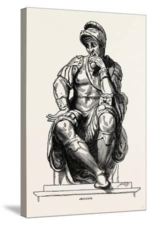 From the Monument of Giuliano De Medici--Stretched Canvas Print