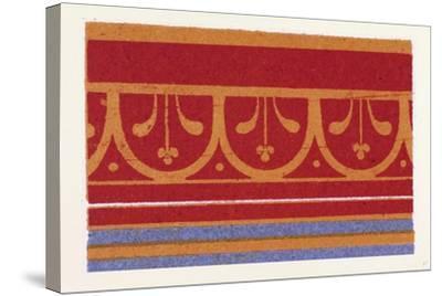 Pompeian Ornament--Stretched Canvas Print
