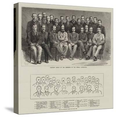 Portrait Group of the Members of the Greely Expedition--Stretched Canvas Print