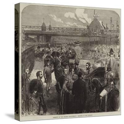 Opening of the Thames Embankment, Reading of the Address--Stretched Canvas Print