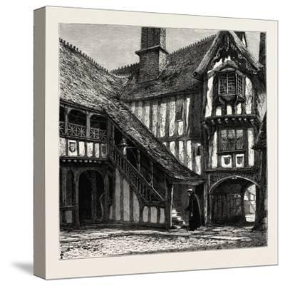Courtyard of Leicester's Hospital, UK--Stretched Canvas Print