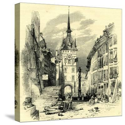 High Street Berne Switzerland--Stretched Canvas Print