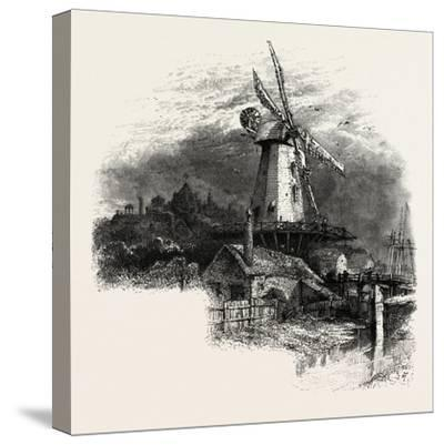 The Old Windmill at Rye, Kent, UK--Stretched Canvas Print