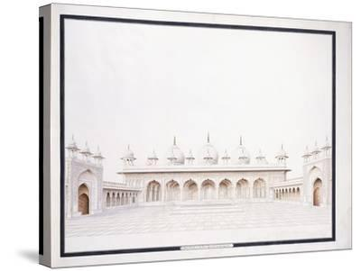 The Moti Musjid in the Fort of Agra, C. 1815--Stretched Canvas Print
