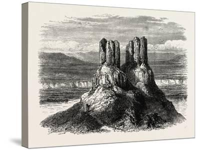 Basaltic Pinnacles on the Columbia River, USA, 1870s--Stretched Canvas Print