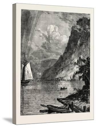 American River Scenery: on the Hudson, USA, 1870S--Stretched Canvas Print